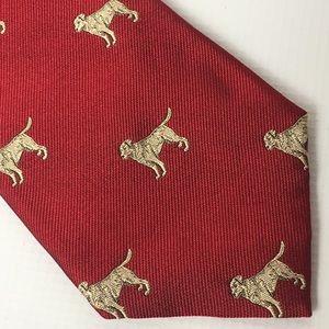 Polo Ralph Lauren Silk Tie Labrador Retriever Dog
